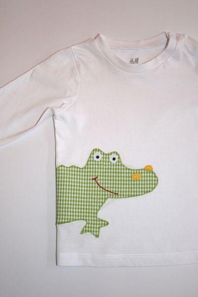 Langarmshirts - Langarmshirt 'Krokodil' - ein Designerstück von tepetua bei DaWanda