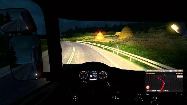 Euro Truck Simulator 2 Scania Streamline R370 Transporting Wooden Beams ...