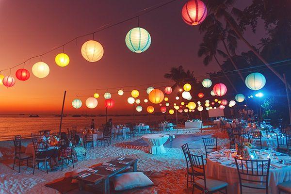 Walking on a dream! Colorful lanterns | Beach | Boracay | Wedding | The Sweetest Sunset | Philippines Wedding Blog