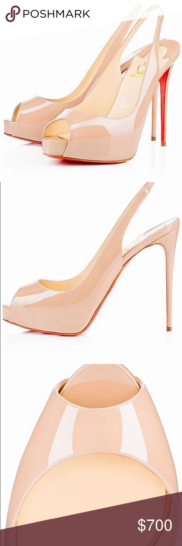 Nude Christian loubiton shoes Used, good condition. Christian Louboutin Shoes Heels
