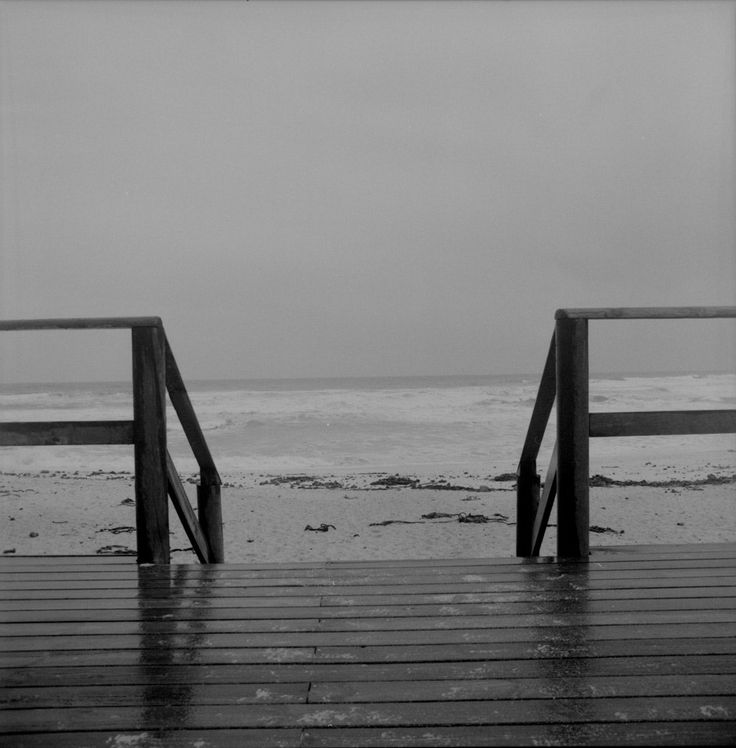 Abandoned beach: Winter rains - Abandoned beach on west coast during winter rains, taken with Bronica S2A and 50mm lens using Ilford HP5+