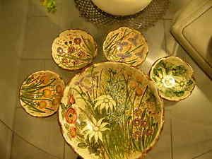 Vintage Australian Pottery Daisy Ware Large Bowl With 4 Smaller Bowls in NSW | eBay
