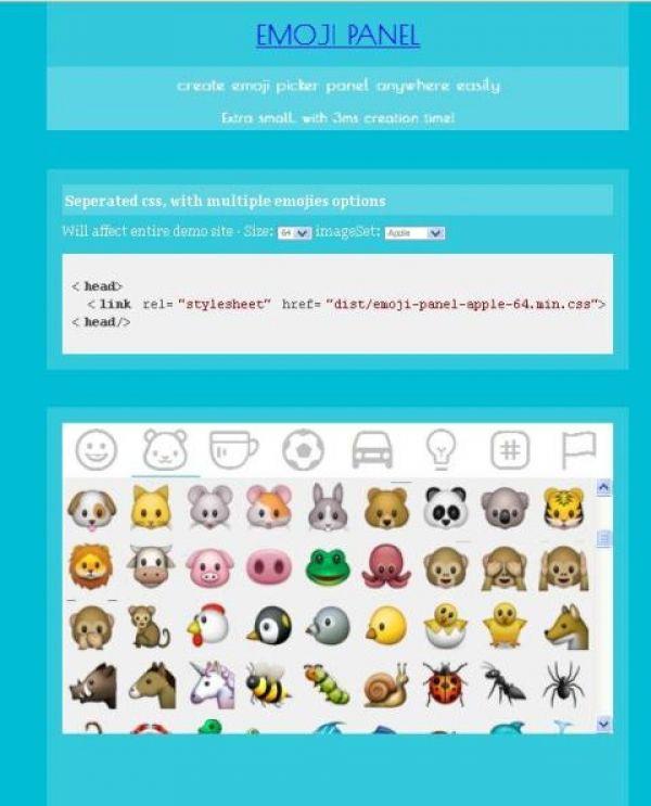 Ajoutez un selecteur d'emojis à votre site web - emoji-panel  Emoji-panel est un panneau de selection d'emoticones codé en JavaScript.   http://www.noemiconcept.com/index.php/fr/departement-communication/news-departement-com/207271-webdesign-ajoutez-un-selecteur-demojis-%C3%A0-votre-site-web-emoji-panel.html