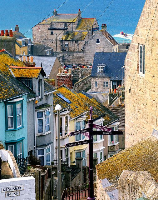 Fortuneswell on the Isle of Portland, just off the coast of Dorset in the English Channel, UK