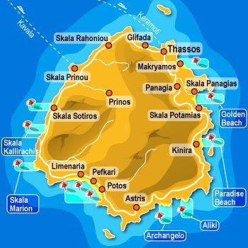 Thassos: Thassos-Karte