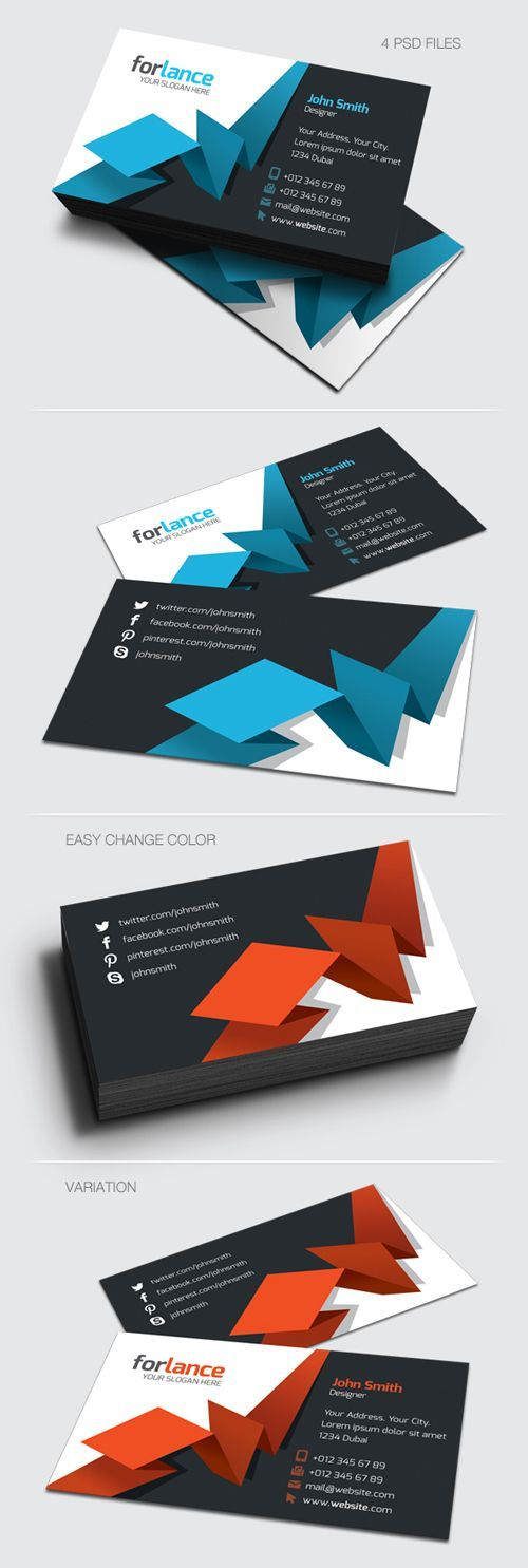 Creative Business Card #businesscards #businesscardsdesign #businesscardtemplates: