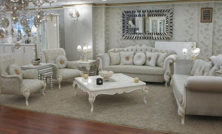 Beyaz Renk Avangard Salon Takımları   Salon Koltuk Takımları   avant-garde lounge sofa