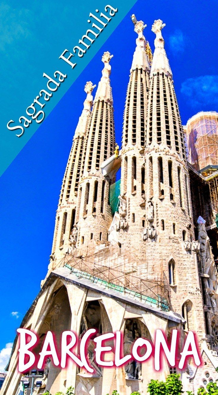 Sagrada Familia is #1 on what to see in Barcelona. Click the pin to get the complete list of things to do with a day in Barcelona. #travel #Spain #Europe