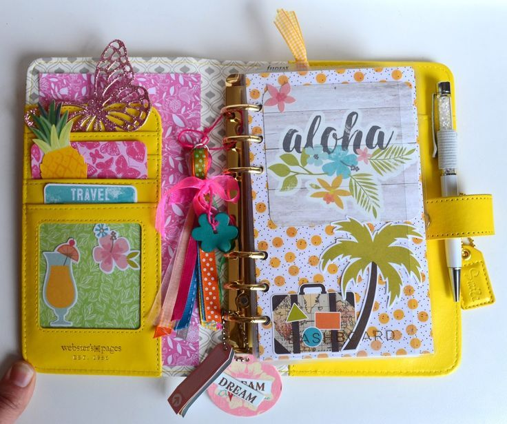 SweetyKissLife: {Organisation} - Je vous présente mon planner de sac - Color Crush Yellow de Webster's Pages