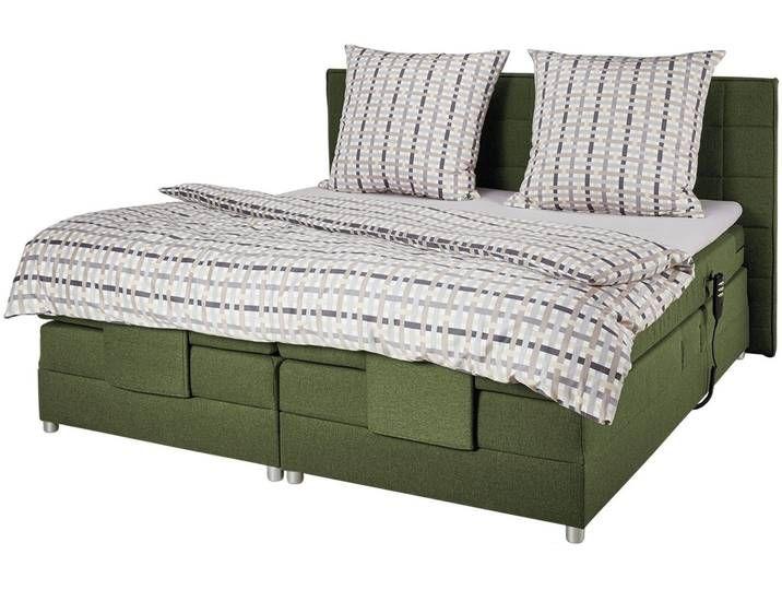 Uno Motor Boxspringbett Montana Grun 200 Cm 111 5 Cm Sconto In 2020 Mit Bildern Boxspringbett Bett Bett Mit Bettkasten