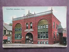Police Station, Town Hall, Amesbury, Massachusetts, MA, A2885