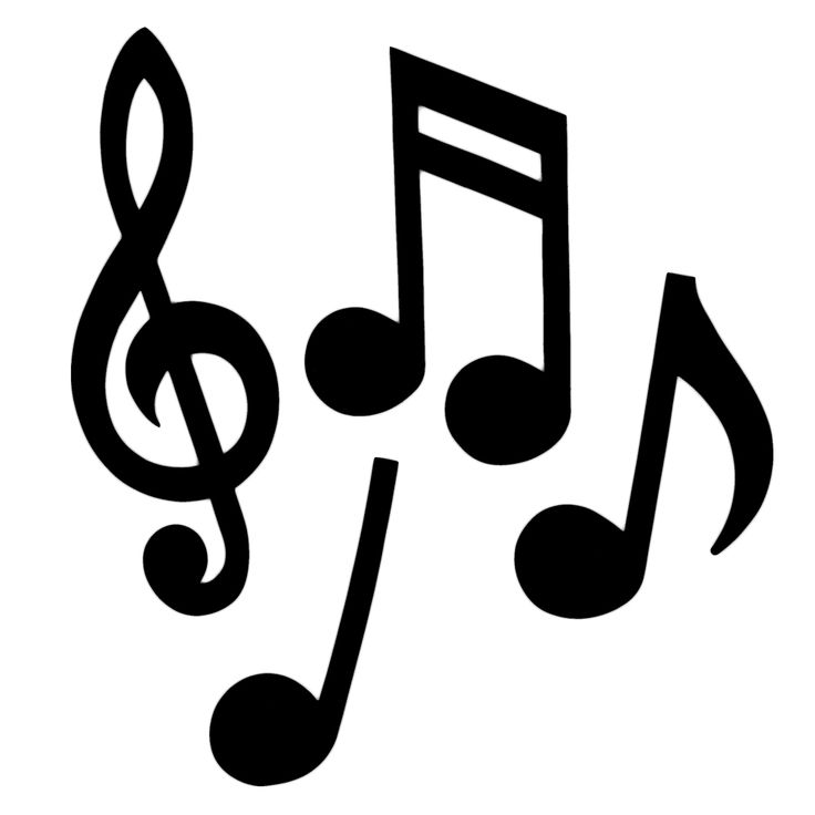 Arts Music Photography: Musical Notes Silhouette
