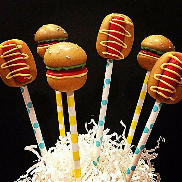 Hot Dog Cake Pops