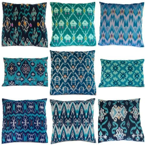 gorgeous shades of blue for pillows