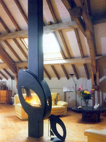 images of rooms with modern wood stoves | Arkiane contemporary stoves, arkiane fires, contemporary stove UK