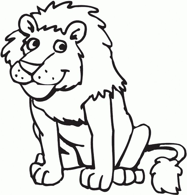 printable lion coloring page