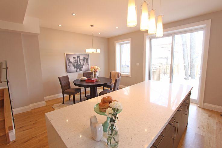 For sale, 563 St Clarens Ave, Toronto, real estate, Bloordale Village, 3 bedroom, 4 bathroom, home, cedar, brick, quartz, waterfall, island
