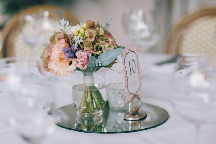 Wedding floral centrepiece by Willoughby Road Florist