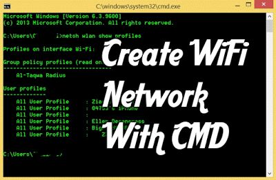 WiFi Network WIth CMD Command