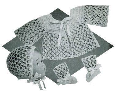 Lover's Knot Sweater Set free crochet pattern
