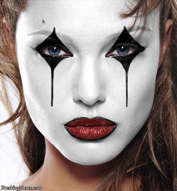 8 best Black and White Clown Makeup images on Pinterest | Costumes ...