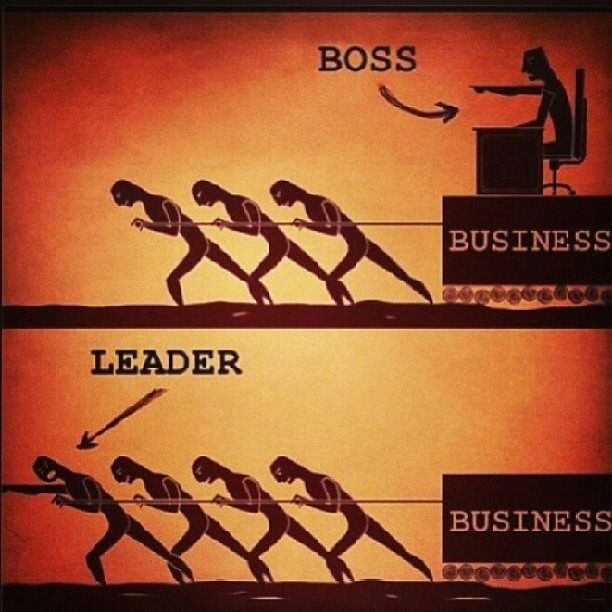 Quite possibly the best visual representation of a leader vs. a boss. This puts the difference in straight forward simple terms.