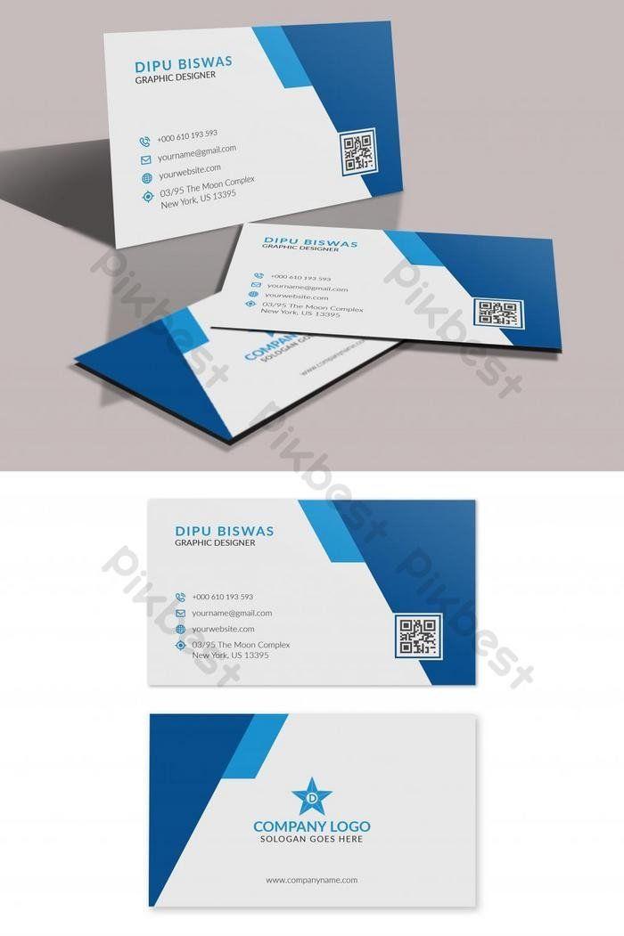 Business Card Template Illustrator Free Elegant Blue Business Card Business Card Template Free Business Card Templates Blue Business Card