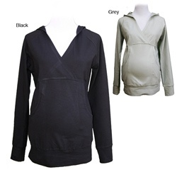 @Overstock - Stay comfortable and stylish with a Belly Button maternity hoodie  Women's top features long-sleeves and a criss-cross V-neck  Maternity sweater is made of soft, comfortable fabrichttp://www.overstock.com/Baby/Belly-Button-Womens-Maternity-Hoodie/4425010/product.html?CID=214117 $33.99