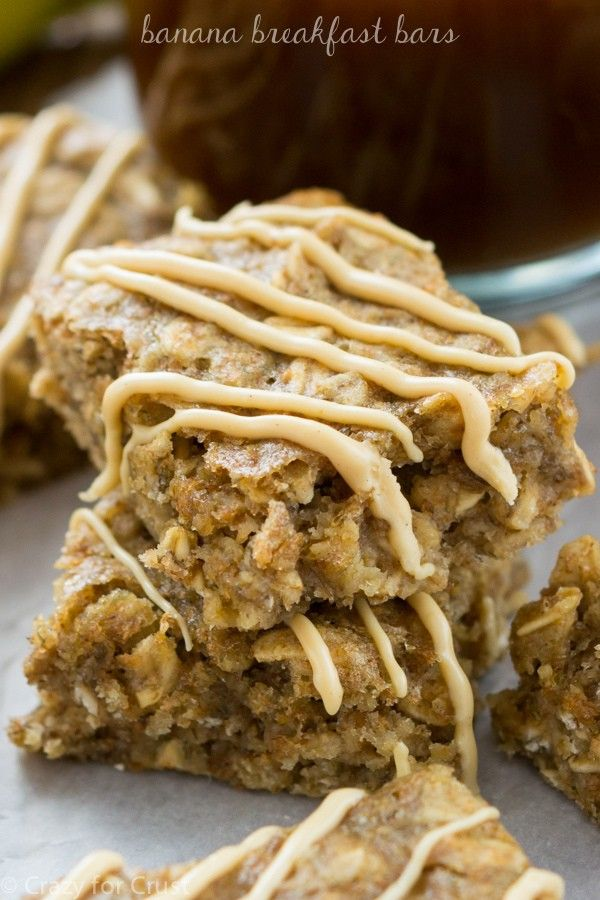 The perfect healthier breakfast or snack: Breakfast Banana Bars. They're a cross between a banana blondie and a granola bar!