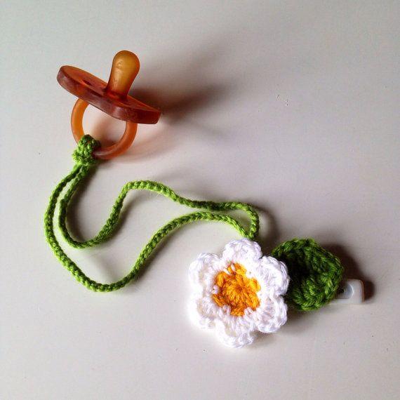 Portaciuccio Fiore clip Bambino Neonato spilla catenella foglia pacifier on Etsy, 7,00€