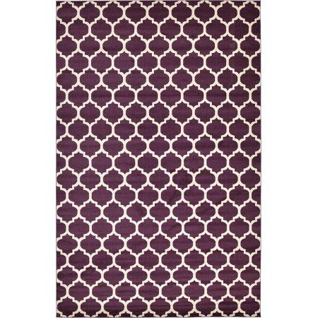 Unique Loom Trellis Purple Area Rug