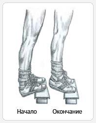 Подъемы на носки стоя - выполнение упражнения