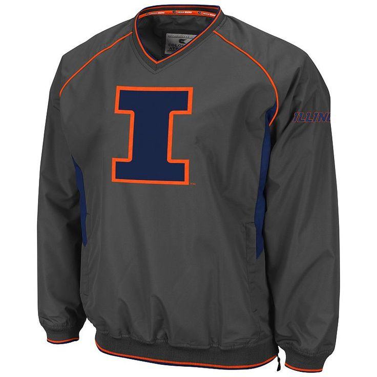 Men's Campus Heritage Illinois Fighting Illini Pitch Pullover Jacket, Size: Medium, Ovrfl Oth