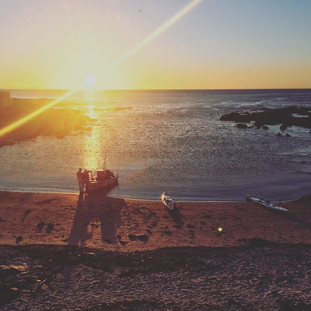 Sunset adventuring.  #flare #sunflare #sunset #ocean #seapointpromonade #fishing #adventure #capetown #activities #cycling #ride #summer