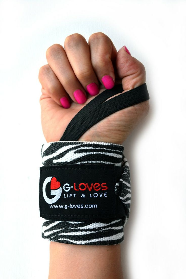 Zebra wrist wraps · g-loves workout gloves for women