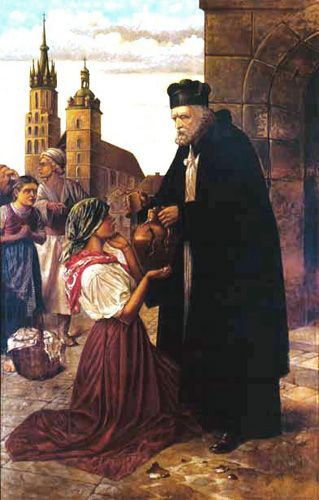 Happy Feast Day of St John of Kanty - December 23 #pinterest After eight years, he was exonerated and transferred back to Cracow. He had been so successful that these once-hostile people followed him several miles down the road, begging him to stay. For the rest of his life, he was professor of sacred Scripture at the ..........| Awestruck Catholic Social Network