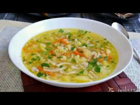 Картофельный суп с фаршем и вермишелью - YouTube
