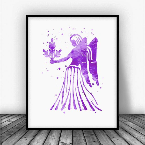 VirgoHoroscope Print.This eye-catching image doesn't need much light to stand out in the room, and it gives you the opportunity to bring unique art to your wa