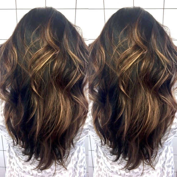 Dimensional color, soft balayage, freehand color