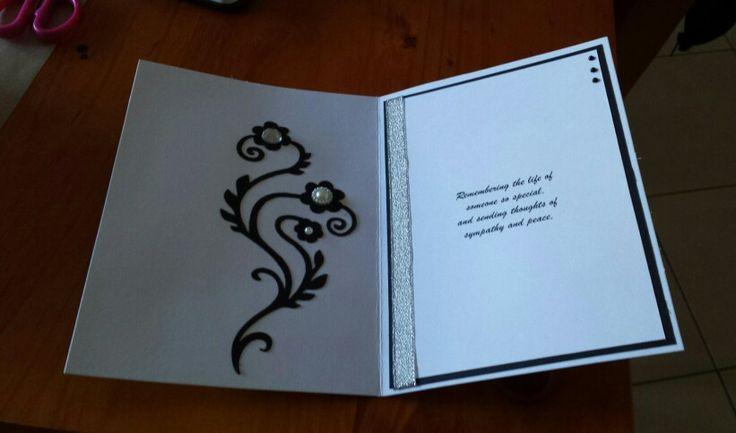 The inside of my sympathy card.