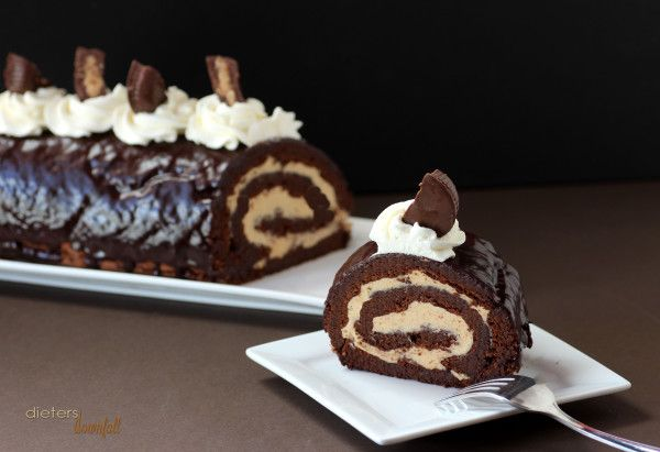 Chocolate Peanut Butter Roulade need to make vegan