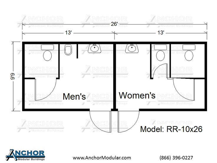 Modular building floor plans modular restroom and for Small bathroom layout dimensions