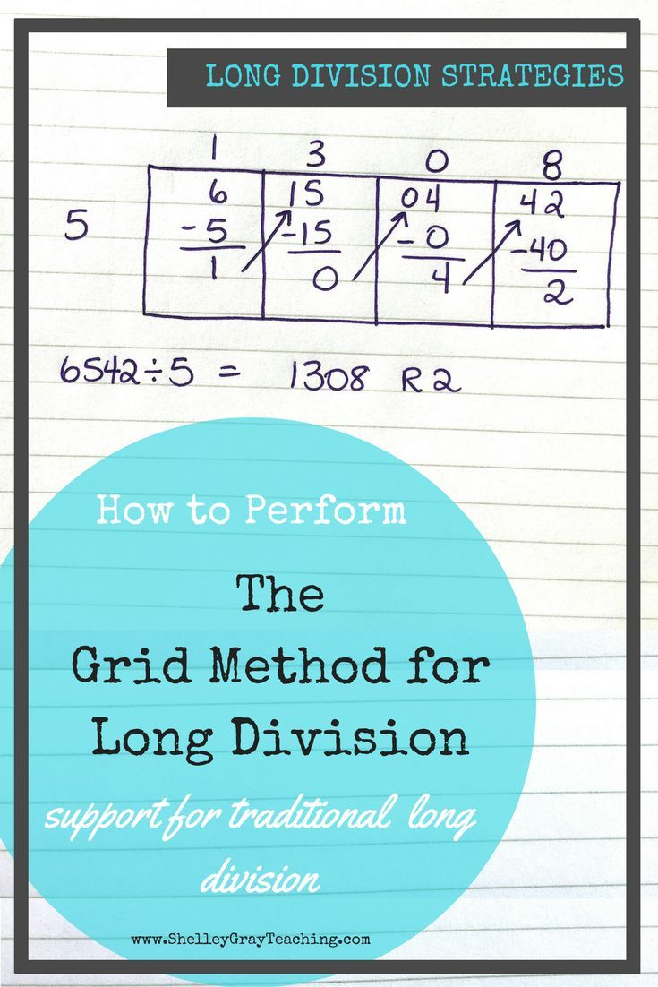 The Grid Method for Long Division | Math | Pinterest | Long division ...