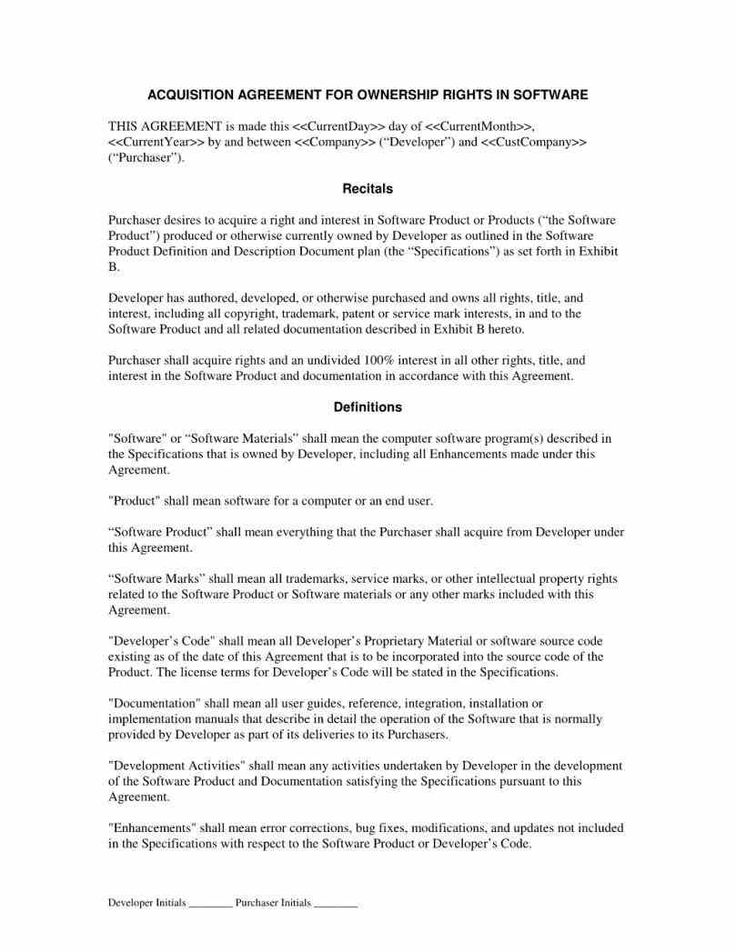 Acquisition Acquisition Agreement Template Agreement Template