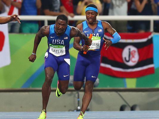 Rio 2016 - USA 4 x100m Relay team DQ'd