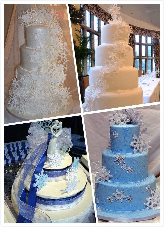 Winter wonderland themed cakes