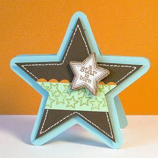 Картичка звезда (шаблон)