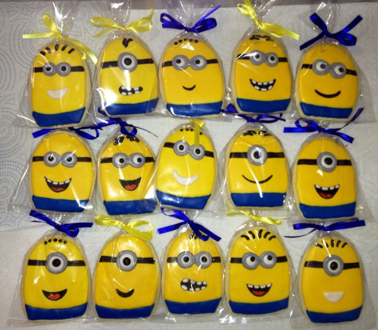 Minions, Minion Cookies, Birthday Party Favors by CelebratewithCookies on Etsy