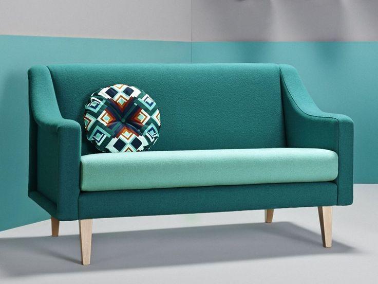 Sofá tapizado 2 plazas de tela CHAVELA | Sofá - Missana