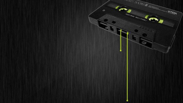 Music Dark Tape Casette